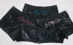 Black Mystique/ Foil fabric personalised shorts